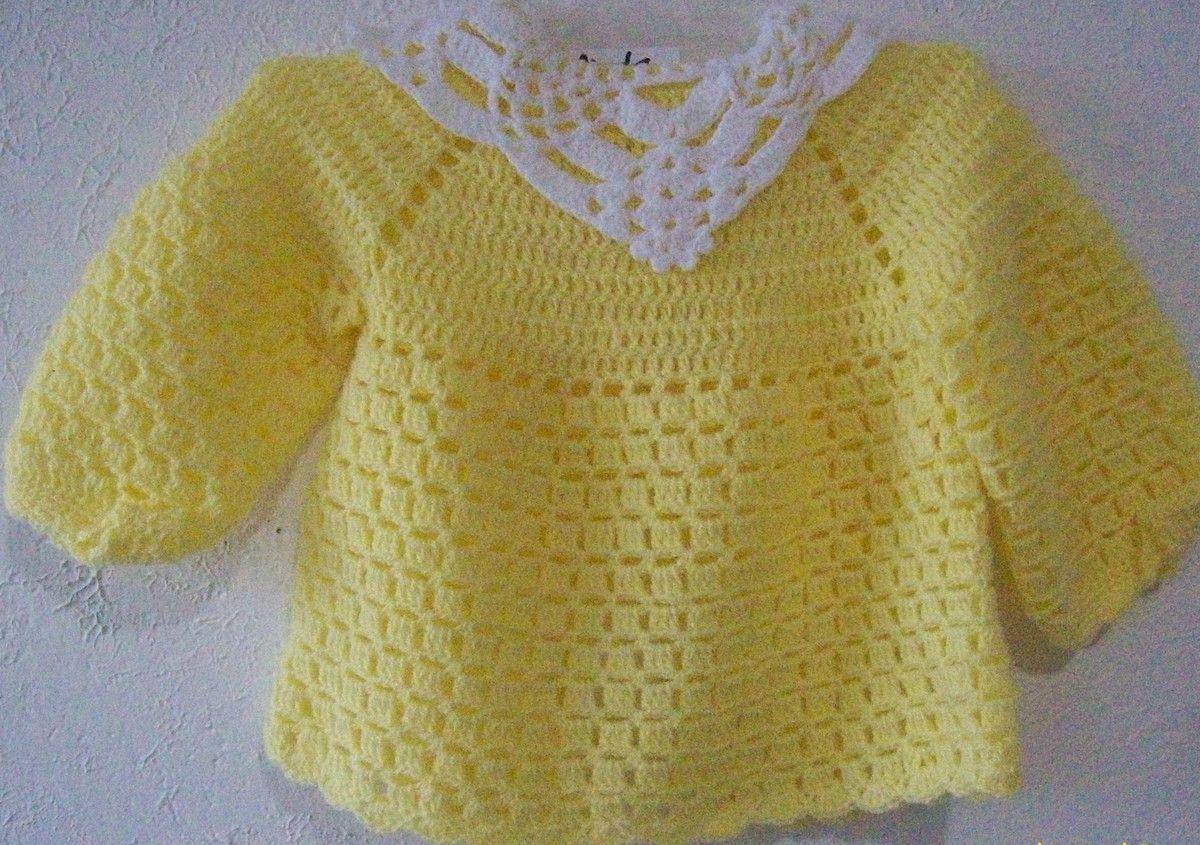 Blusa bebê amarela/branca | Linda Artes e Semi Joias | Elo7