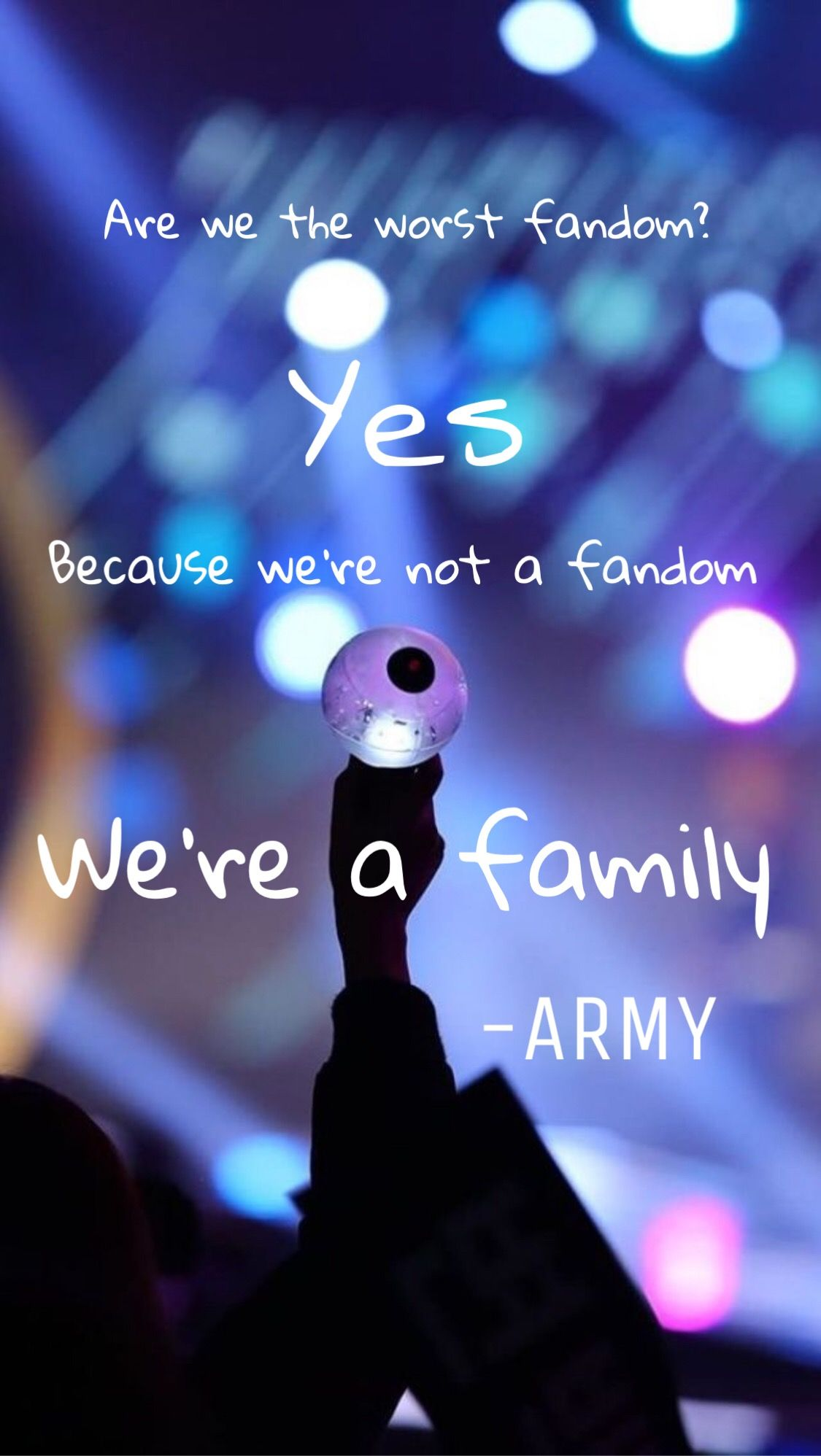 A Wallpaper I Made We Re A Family I Purple U Army And Bts Bts Backgrounds Bts Wallpaper Army Bts wallpaper i purple you