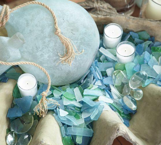 Sea Glass Vase Filler Pottery Barn My Wedding Yyeeaaa