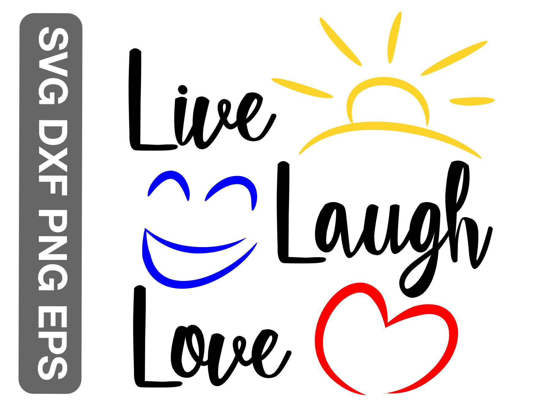 Download Live laugh love svg, png, eps and dxf, printable wall art ...