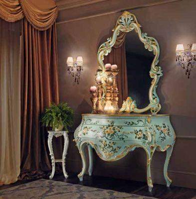 Consola con pintura Villa Venezia  Modenese Gastone