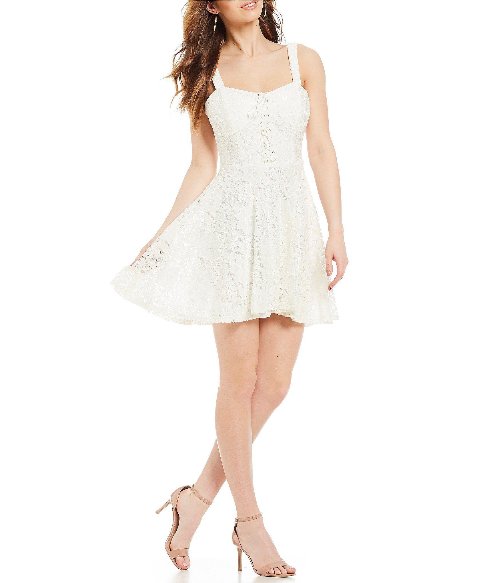 B darlin laceup bodice lace dress lace dress dillards and bodice