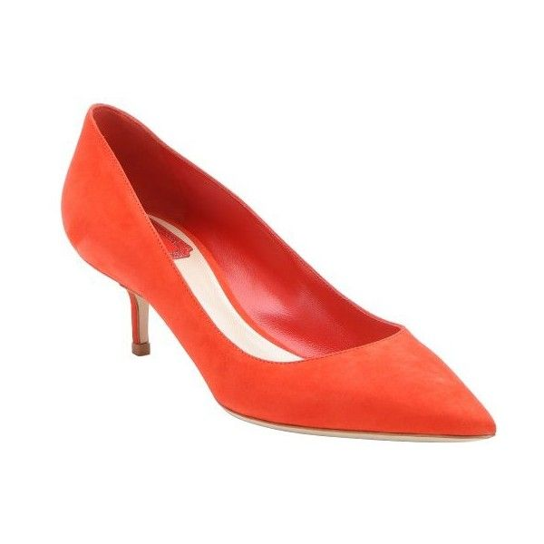 Christian Dior Red Suede Cherie Kitten Heel Pumps Red Suede Shoes Kitten Heel Pumps Kitten Heel Shoes