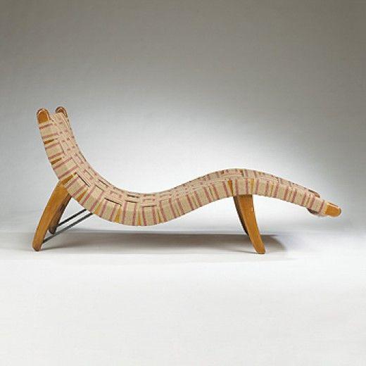 Grabe Webb Van Buren Adjustable Chaise Longue 1940 Organic Design Design Competitions Organic Furniture