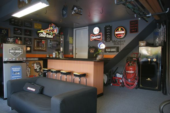 Harley Davidson Man Cave Complete With Bar Why Would You Ever Need To Leave Man Cave Furniture Bars For Home Man Cave Design