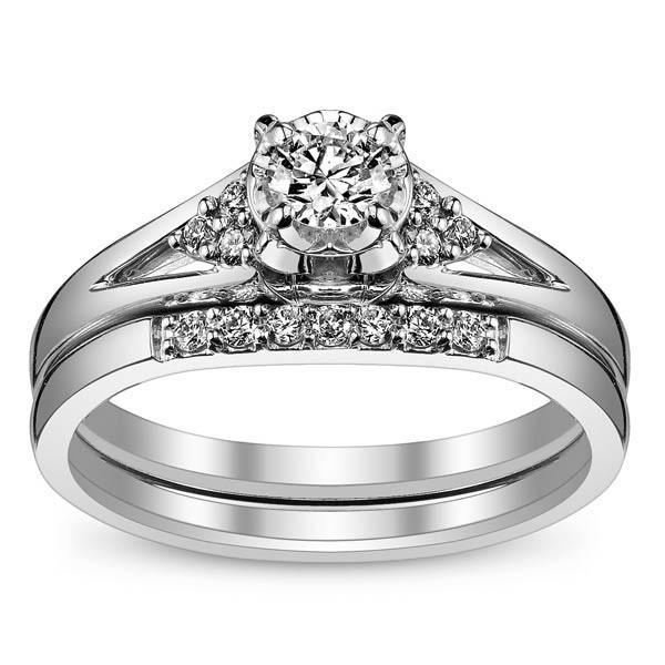 Queenly Inexpensive Diamond Wedding Set 0 25 Carat On Gold Sets