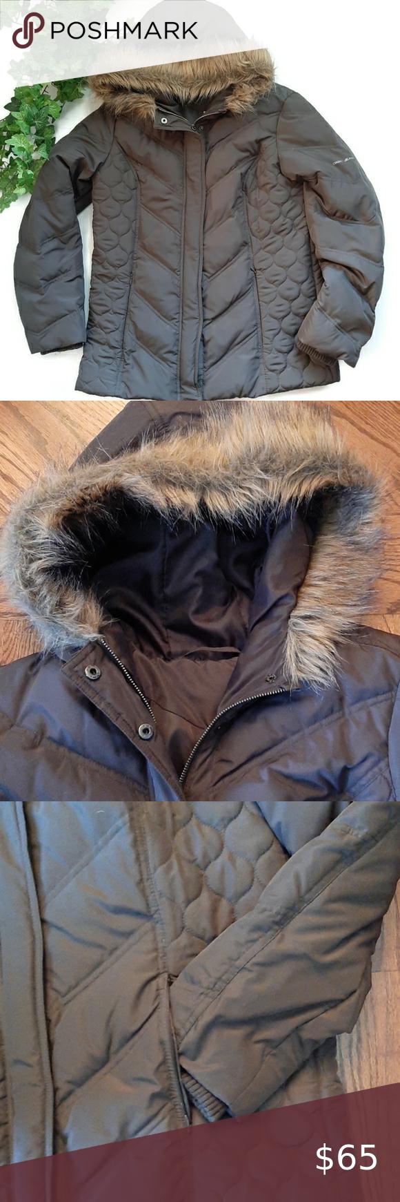 Euc Dkny Chic Brown Down Filled Puffer Coat In 2021 Boho Leather Jacket Puffer Coat Coats Jackets Women [ 1740 x 580 Pixel ]