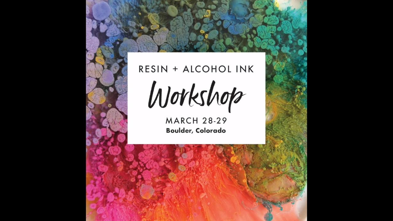 Resin + Alcohol Ink Workshops