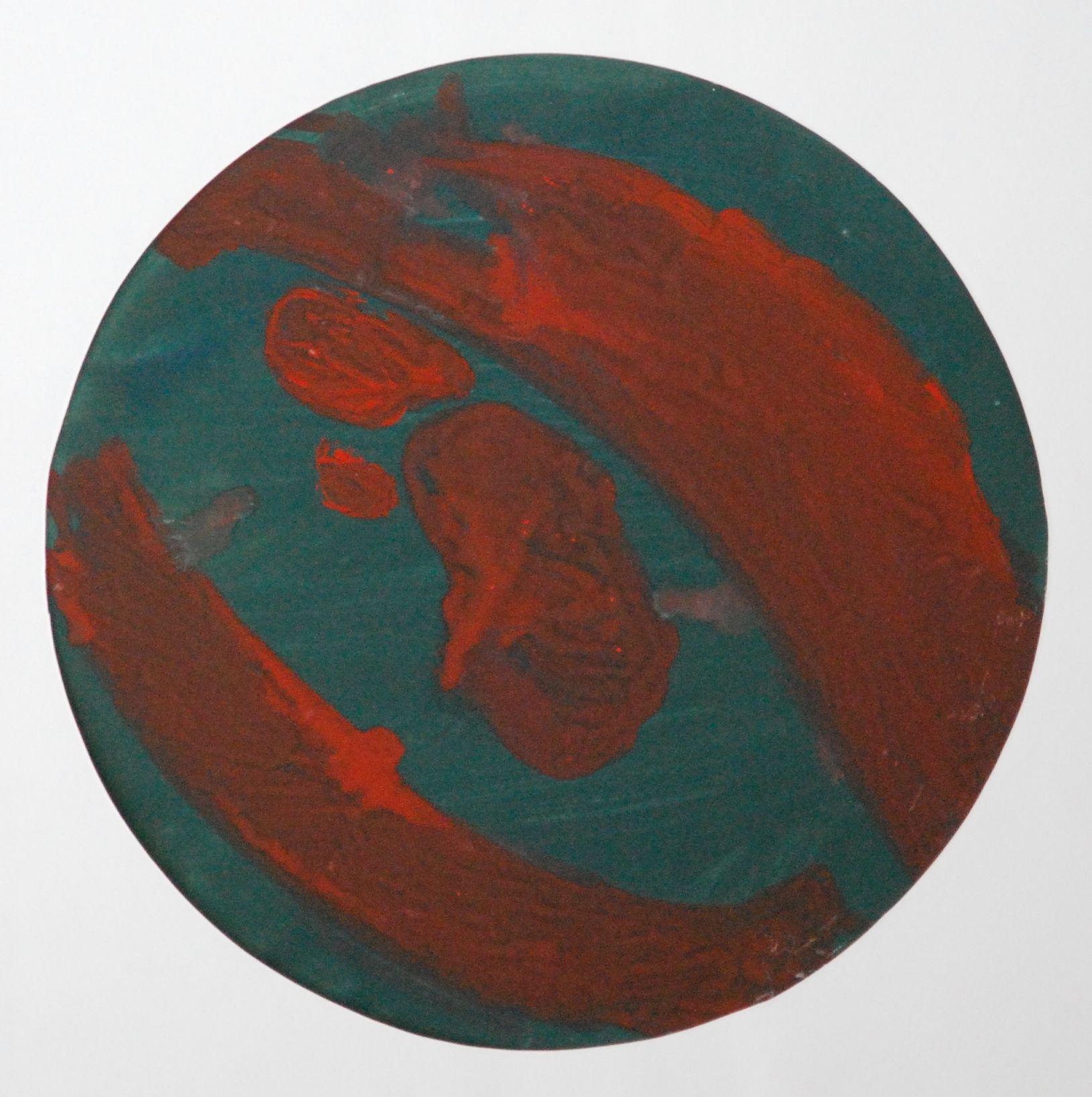 Lubomir Blecha, design for decorative glass disk, 1956, aquarelle on paper, D: 31,8 cm, UMPRUM Prague