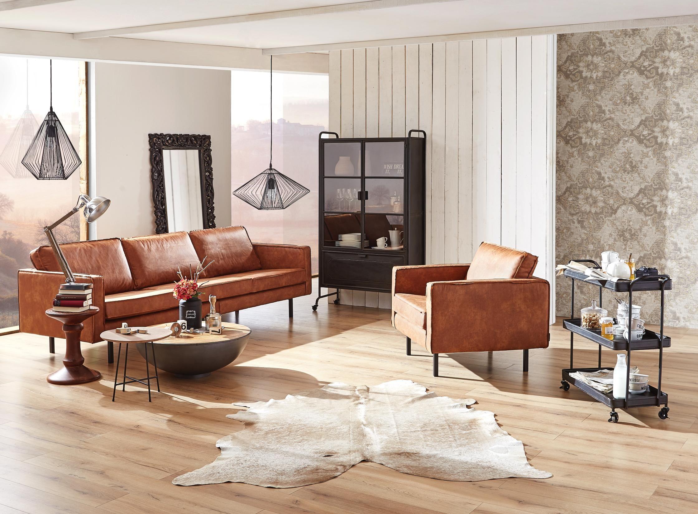 Couch in braun-textil von AMBIA HOME | Wohnen ...