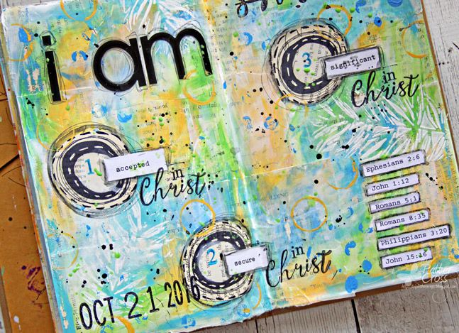 Triple the Scraps: Art {Journaling} Who I Am in Christ