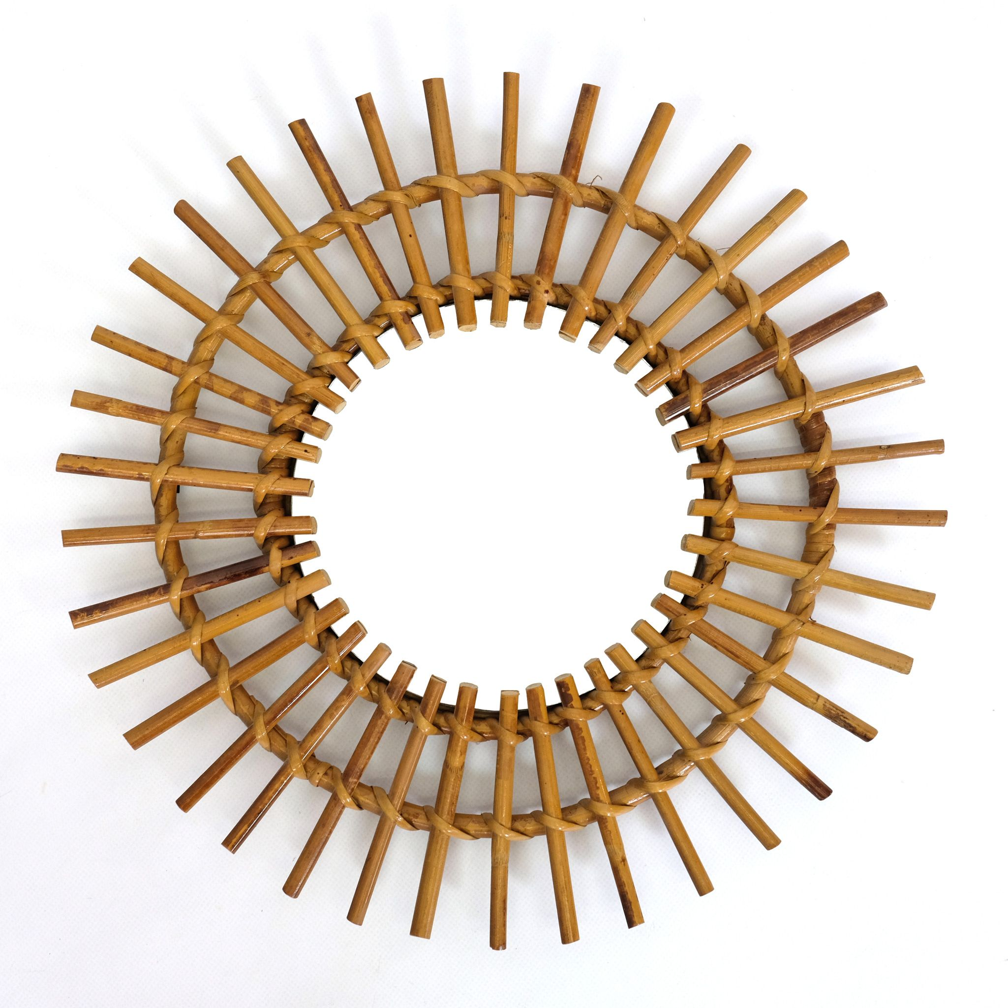 Sun Shaped Mirrors Sun Shaped Rattan Mirror France 1960 S 42cm In 2019 Furniture