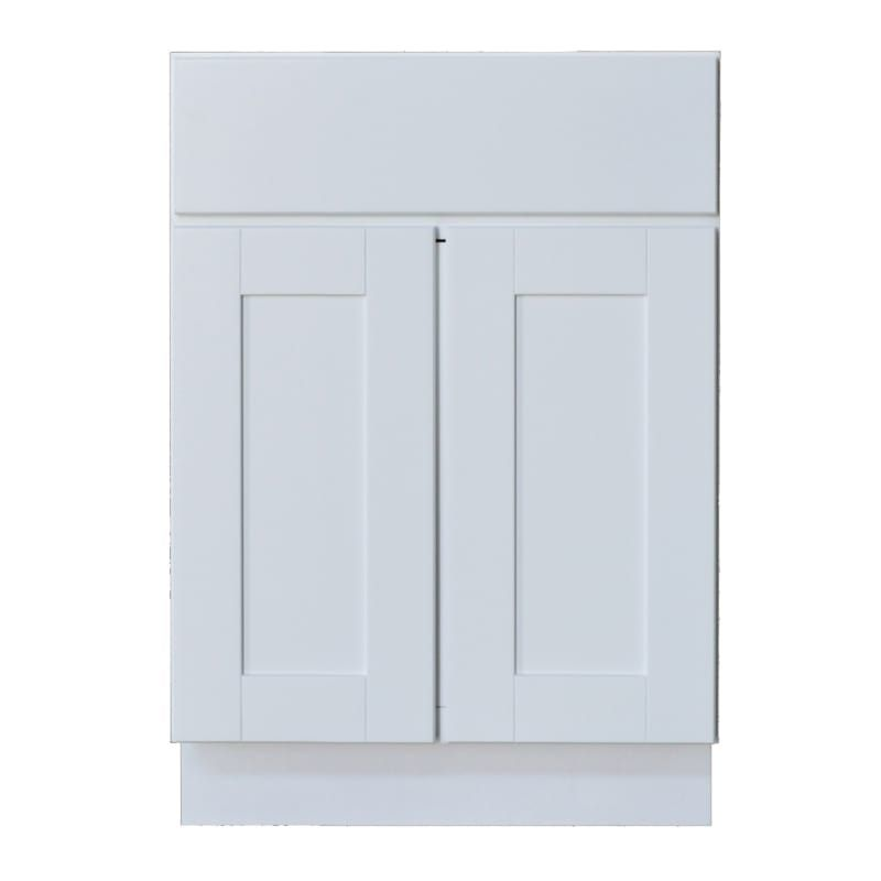Sunny Wood Shb24 A Shaker Hill 24 Double Door Base Cabinet With Dovetail Drawer Designer White Kitchen Cabinets Inch