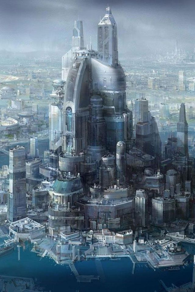 hd cool fantasy city iphone 4 wallpapers