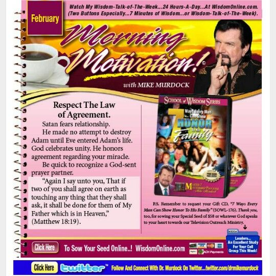 Respect The Law Of Agreement Dr Mike Murdock Morning Motivation