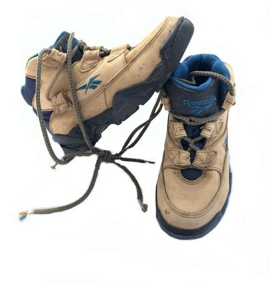 Reebok Outdoor Boots Vintage Sportswear Hiking Shoes 90s Retro Women S 7 5 Reebok Hikingboots Casualoutdoor Reebok Vintager Shoe Boots Boots Outdoor Boots