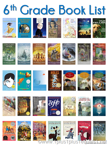 6th Grade Book List Book Lists For Kids Pinterest 6th Grade