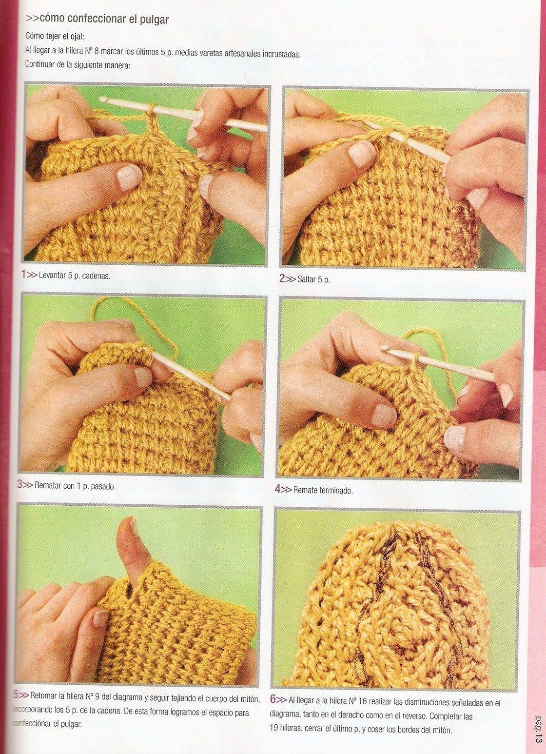 Mossita Bella Patrones Y Gr Ficos Crochet Quot Bufandas Mitones A ...