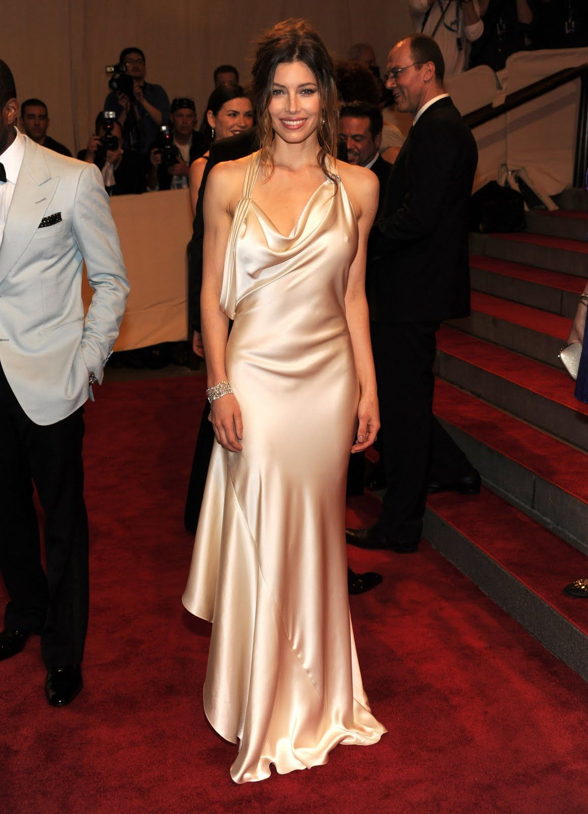 Jessica biel dresses pinterest jessica biel satin and satin