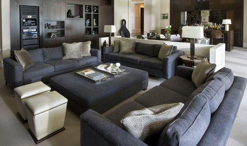 Eclectic Living Room Game Area Bar Builtins Wolfe Rizor Interiors FLA Via Houzz