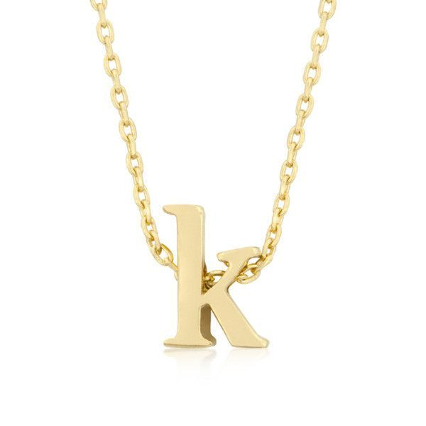 Alexia 14k gold pendant k initial necklace gold 14k jewelry alexia 14k gold pendant k initial necklace aloadofball Image collections