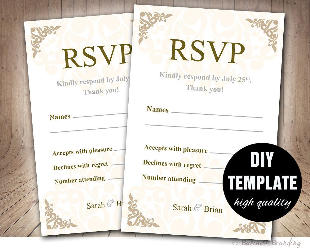 wedding rsvp cards microsoft word