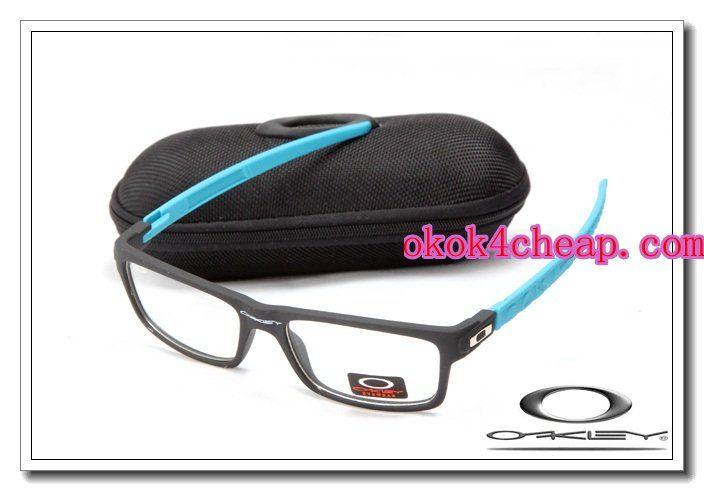 Oakley currency sunglasses matte black / island blue / clear iridium