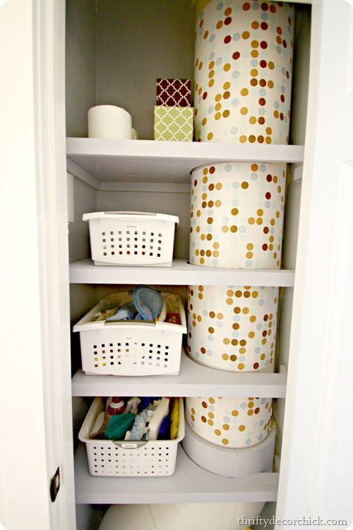 Linen Closet Laundry Chute: I Love Her Idea Of Putting Colored Contact  Paper/shelf