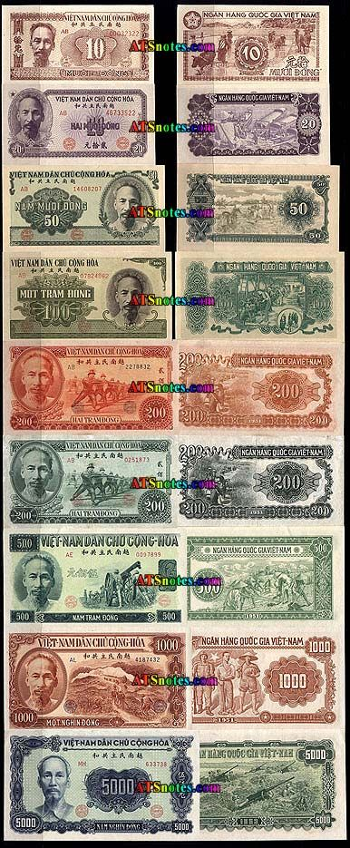 Viet Nam Currency Vietnam Banknotes Vietnam Paper Money Catalog And Vietnamese Bank Notes Paper Money Paper Currency