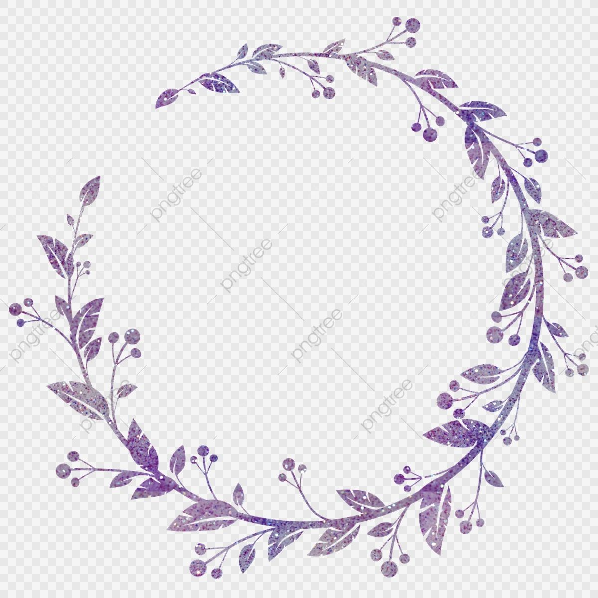 Hand Painted Wreath Watercolor Transparent Floral Purple Wreath Flowers Frame Watercolor Clipart Floral Border Floral Frame Png And Vector With Transparent B Flower Frame Wreath Watercolor Floral Vector Png