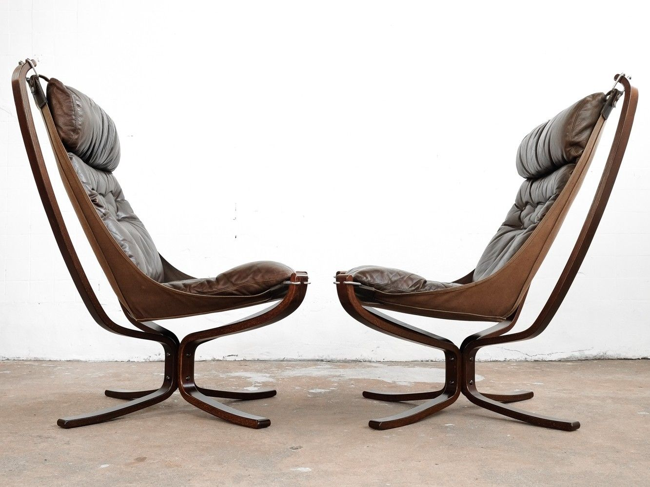 Falcon Chair Pair Of Falcon Chairs By Sigurd Resell For Vatne Møbler