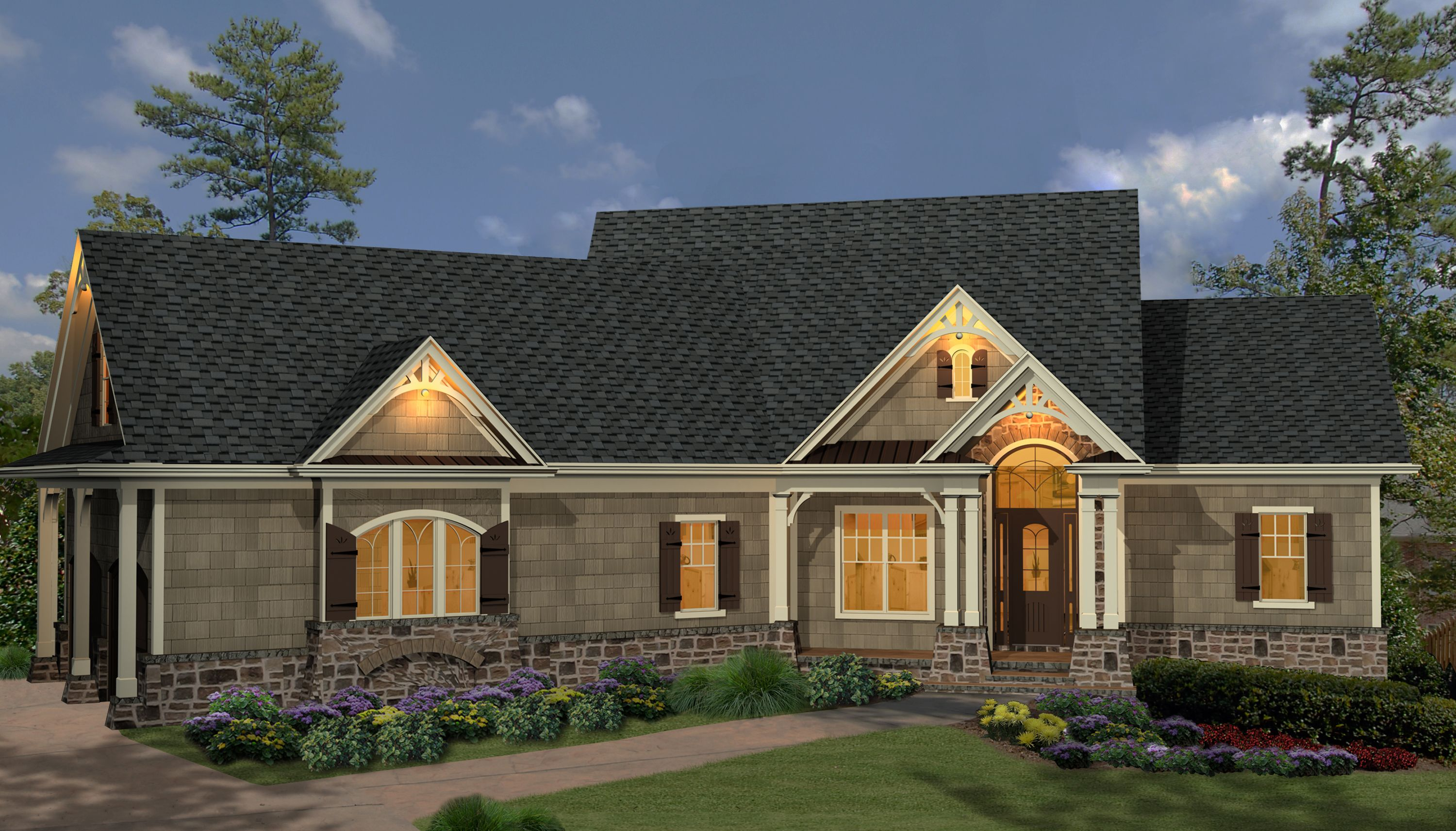 Plan 15885ge affordable gable roofed ranch home plan for Cheap ranch house plans