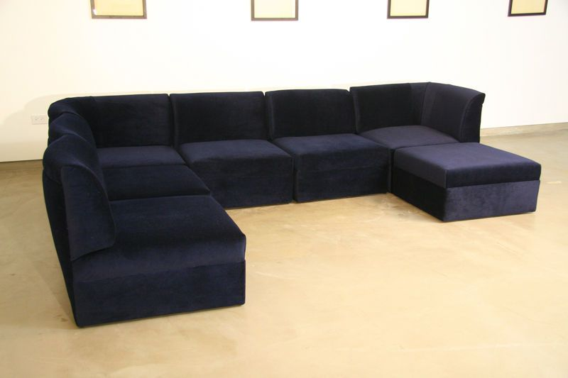 modular sectional sofa blue mohair image for sale ikea velvet