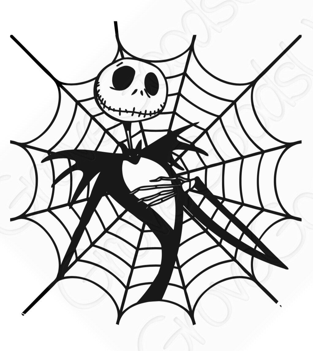 Jack Skellington spider web Vinyl decal Car Decal
