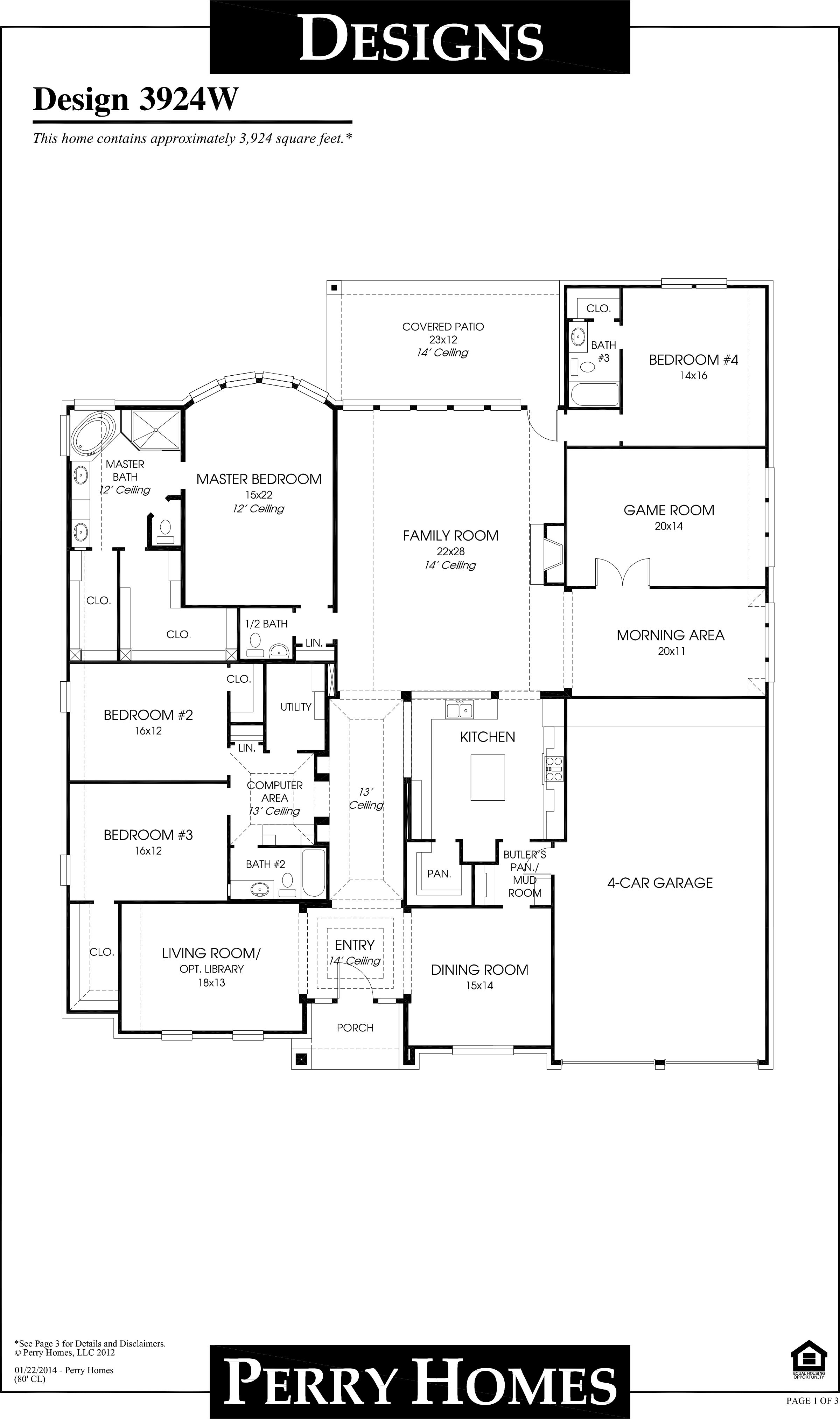 House Plan Design 3924w House Plans How To Plan Perry Homes