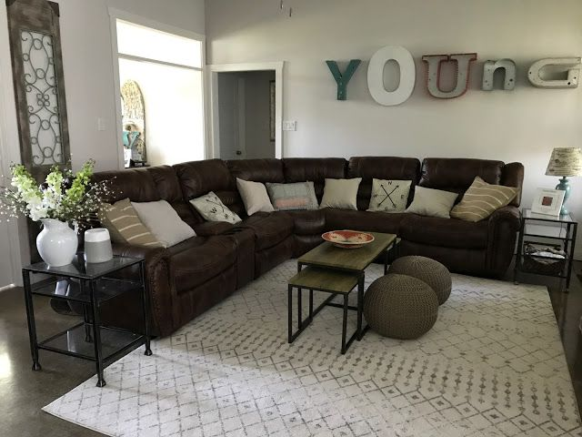 Young Farmhouse Living Room Updates Leather Sectional Industrial Farmhouse Light Farm House Living Room Brown Sectional Living Room Small Living Room Decor