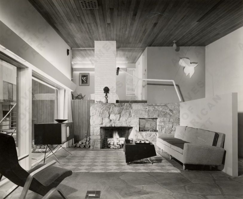 Marcel Breuer House Living Room Displayed In The Moma