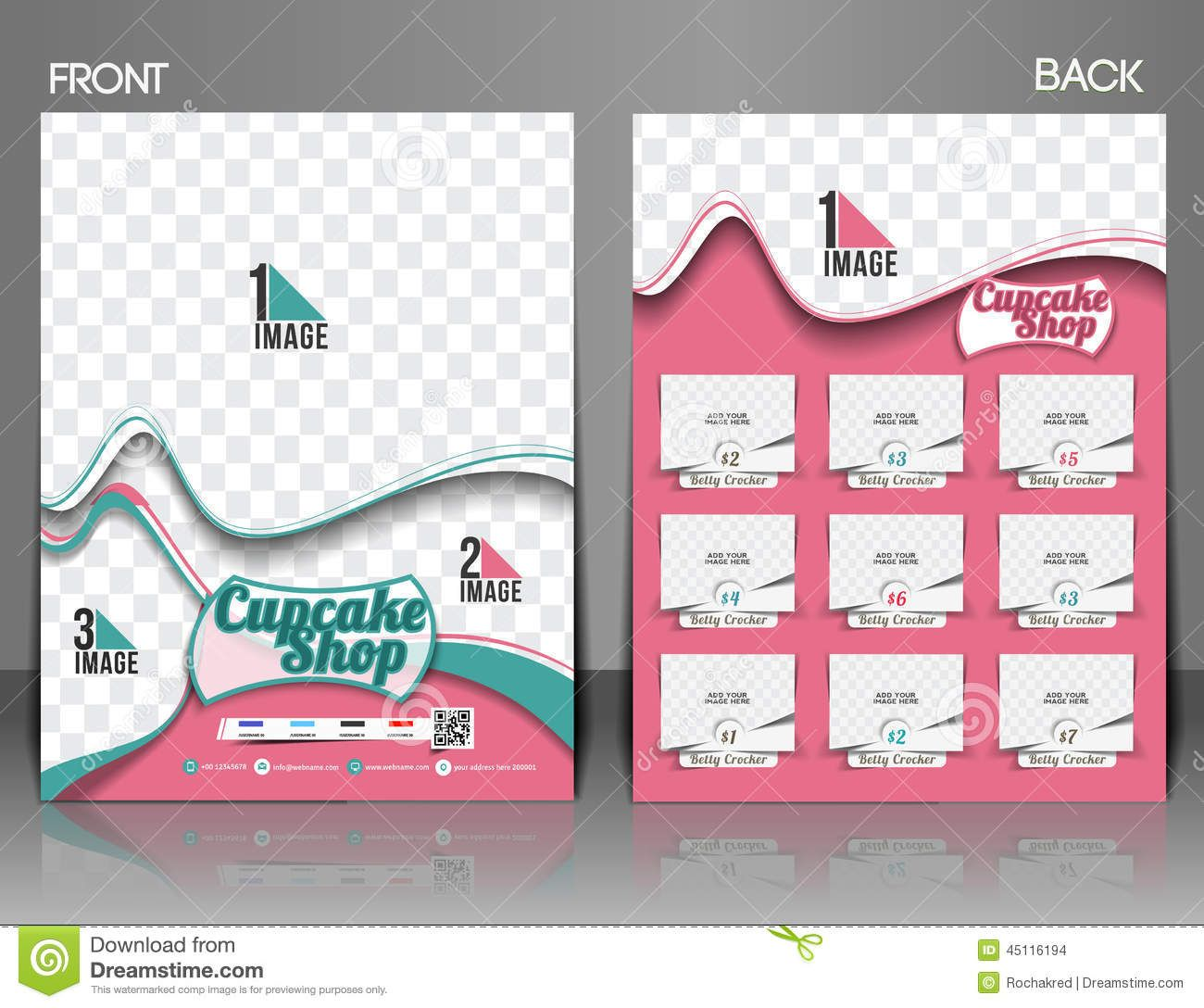 Cup Cake Shop Flyer Download From Over Million High Quality - Bakery brochure template free