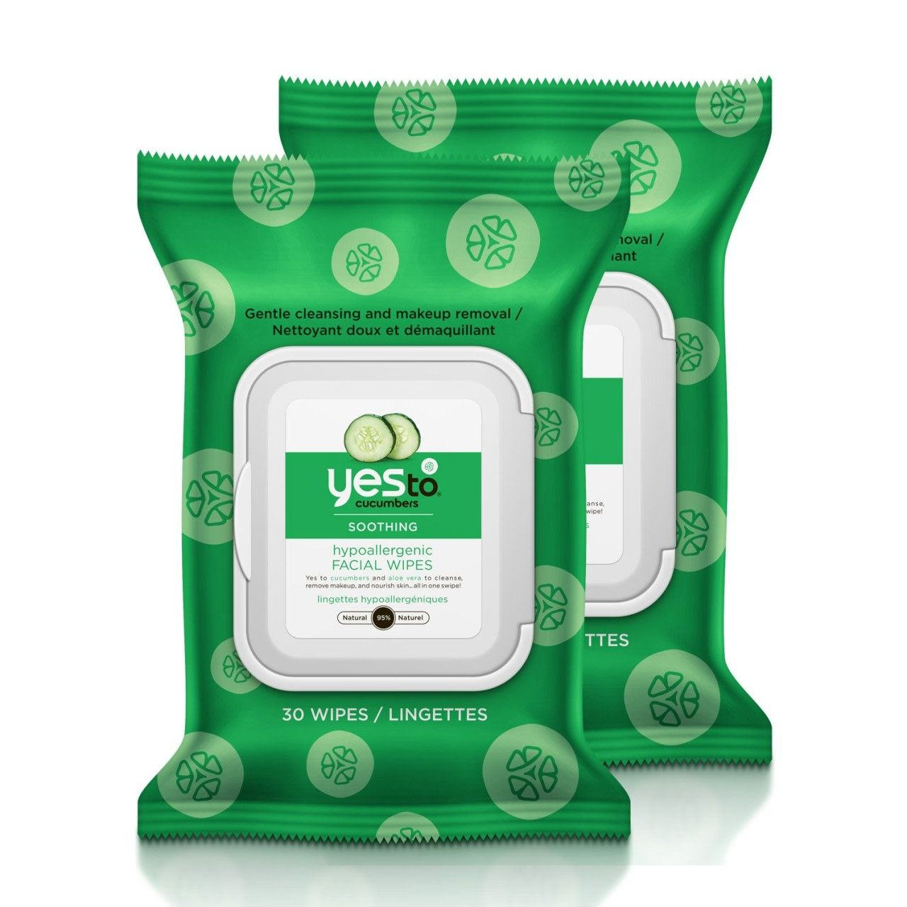 Yes To Cucumbers Soothing Hypoallergenic Facial Wipes for