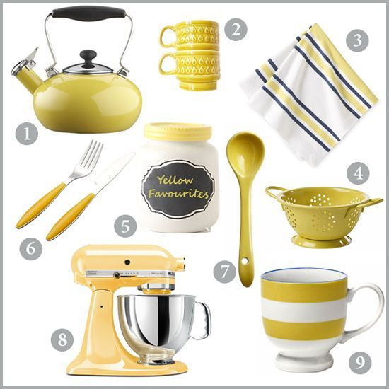 Yellow Kitchen Accessories  Kitchen Accessories And Kitchens Gorgeous Kitchen Accessories 2018