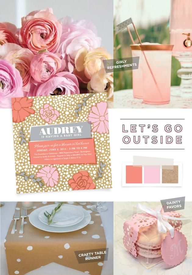 Go outside, take in the fresh air, and decorate the baby shower with ...