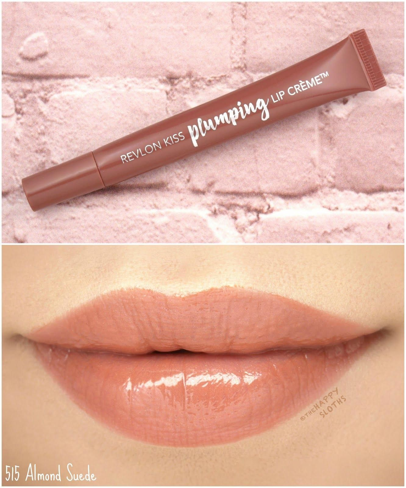 Revlon Kiss Plumping Lip Creme In 515 Almond Suede Review And