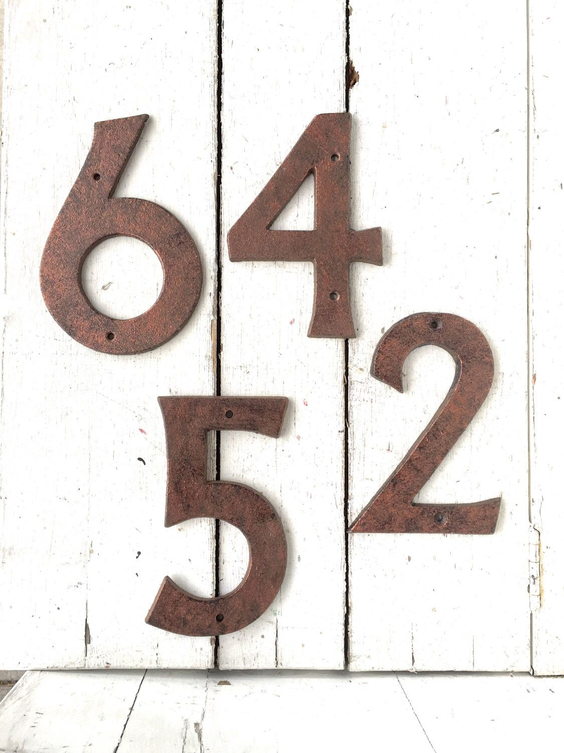 House Numbers Address Metal Rustic Home Decor Bronze Sign Tuscany By Honeywoodhome