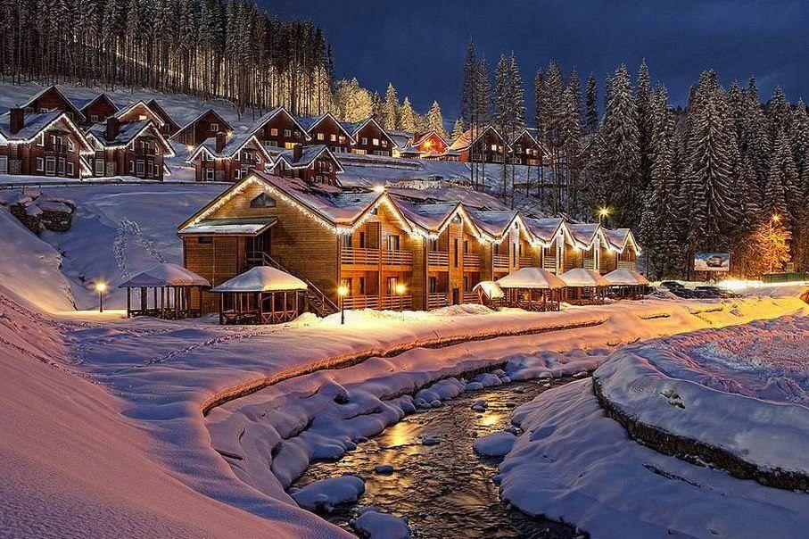 Bukovel Ski Resort, Ukraine. Christmas in ukraine