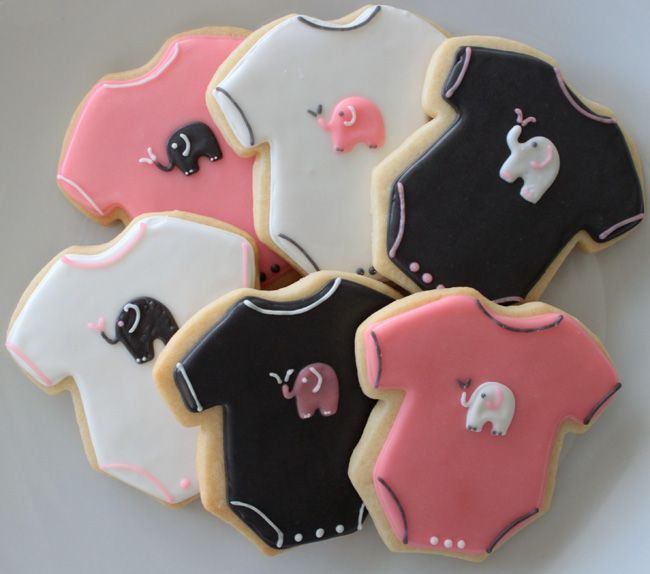 elephant sugar cookies - Google Search | Baby Elephant 1st ...