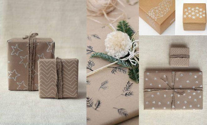 Como envolver regalos de forma original - Dibujos DIY Pinterest