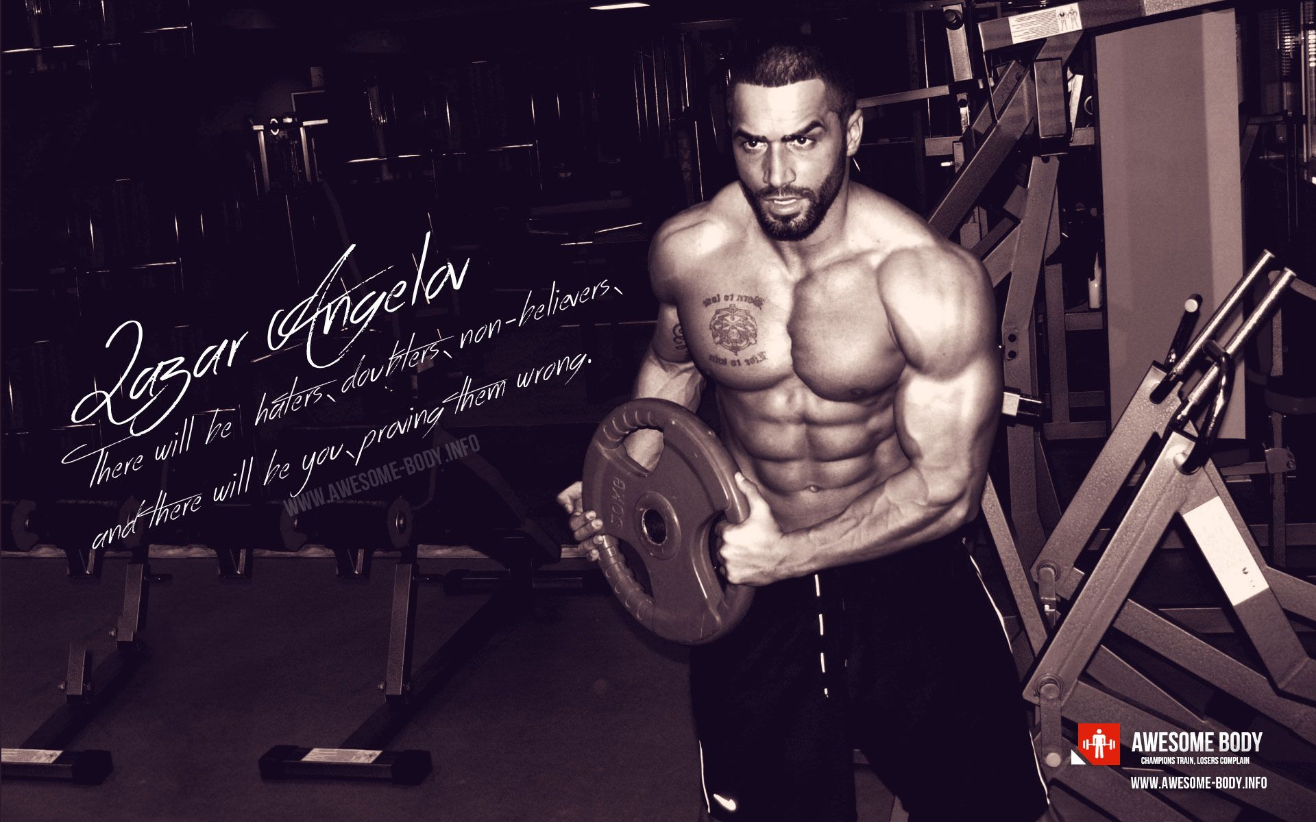 Lazar Angelov   motivational poster and wallpaper - Awesome Body