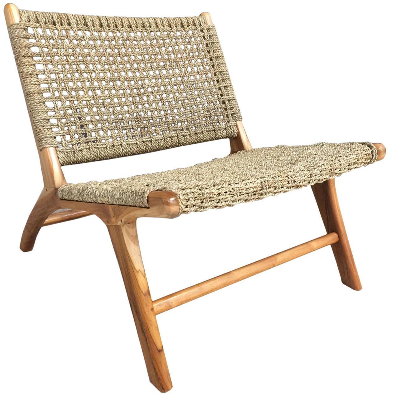 London Seagrass Teak Chair At Home Teak Chairs Backyard Furniture Teak Patio Furniture