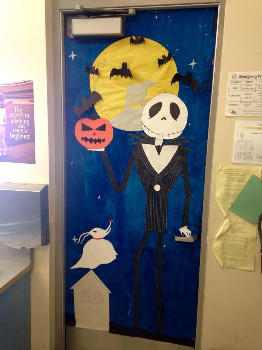 Halloween classroom door. Nightmare before Christmas ...
