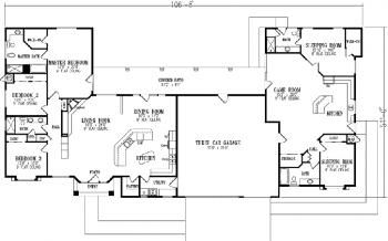 5 4 3177 Sqft Single Story Multigenerational Plan